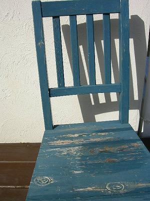 デッキの上の椅子