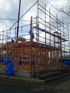 温水床暖の家 建て方1