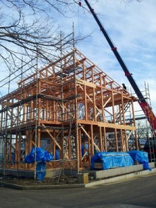 温水床暖の家 建て方2