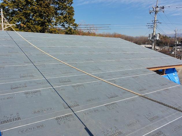 温水床暖の家 屋根工事①2013.02.07