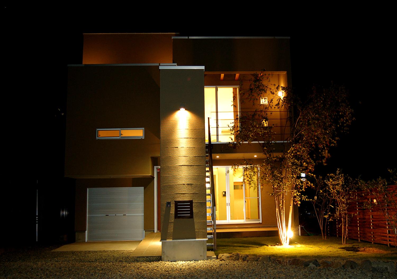 夜間照明 モデルハウス