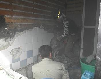 タイル浴室の壁