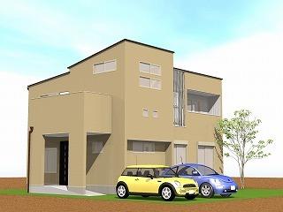 塗り壁とガルバリウムの家